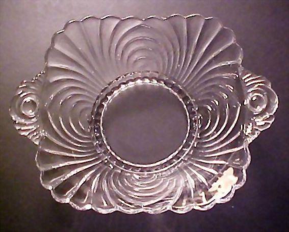 Elegant Cambridge Glass - Vintage Caprice Pattern Dish with Handles