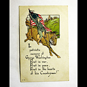 Vintage George Washington Postcard - Antique Post Card