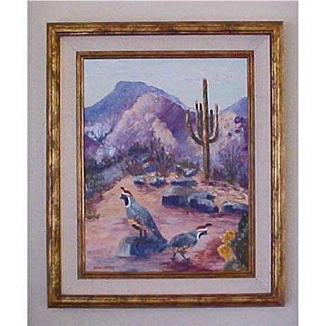 Original Oil Painting on Canvas - Arizona Plein Air Desert Landscape - Helen Briggs Abernathy Artist