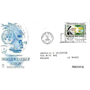 FDC First Day Cover - World Weather Watch - 1968