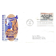 FDC  - Honoring American Music - 1964  First Day of Issue - Cachet Craft - Ken Boll