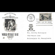 FDC First Day Cover - World Refugee Year 1959 -1960