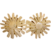 Vintage Mother of Pearl Earrings - MOP Earrings