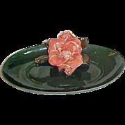 Mid-Century Modern Decorative Dish - California Pottery Bowl Dish - Large Central Flower
