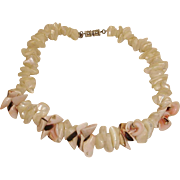 Vintage Les Bernard Natural Shell Choker Necklace
