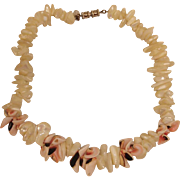Vintage Les Bernard Natural Shell Necklace
