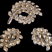 Vintage Lisner Demi Parure – Brooch and Earring Set