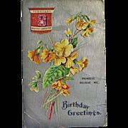 Embossed Birthday Postcard - Post Card Birthday Card FEBRUARY