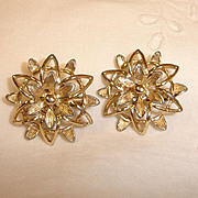 Vintage Gold Tone Sarah Coventry Earrings