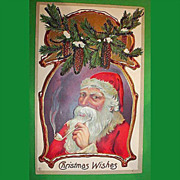 Vintage Santa Claus Post Card - Christmas Holiday Greetings Postcard