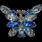 Juliana D&E Rhinestone Butterfly Brooch - Vintage Delizza & Elster Jewelry