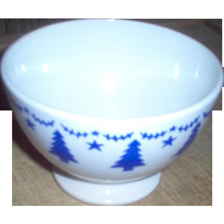 Vintage Belgian Pine Tree Cafe Au Lait Bowls