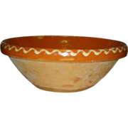 Early French Pottery Dough Bowl