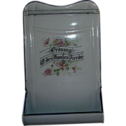 Vintage German Verse Enamel Drip Pan/Utensil Rack