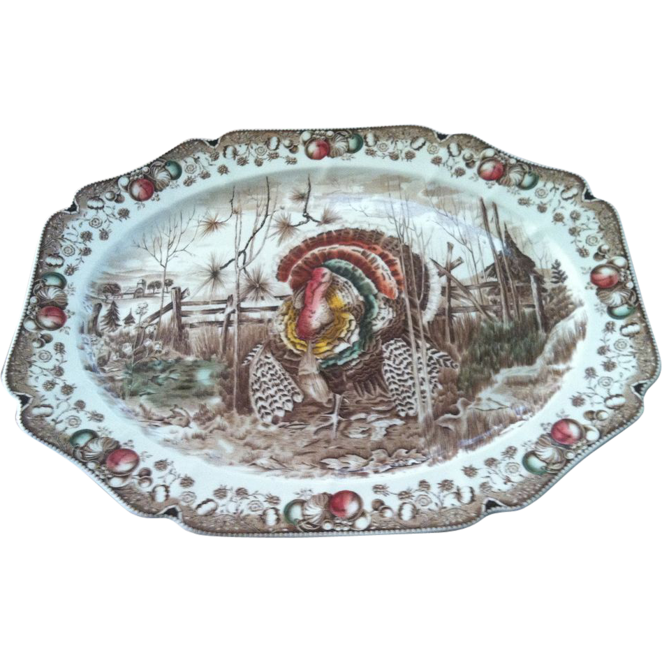 Vintage Johnson Brothers His Majesty Turkey Platter