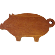 Vintage Green Pig Cutting Board