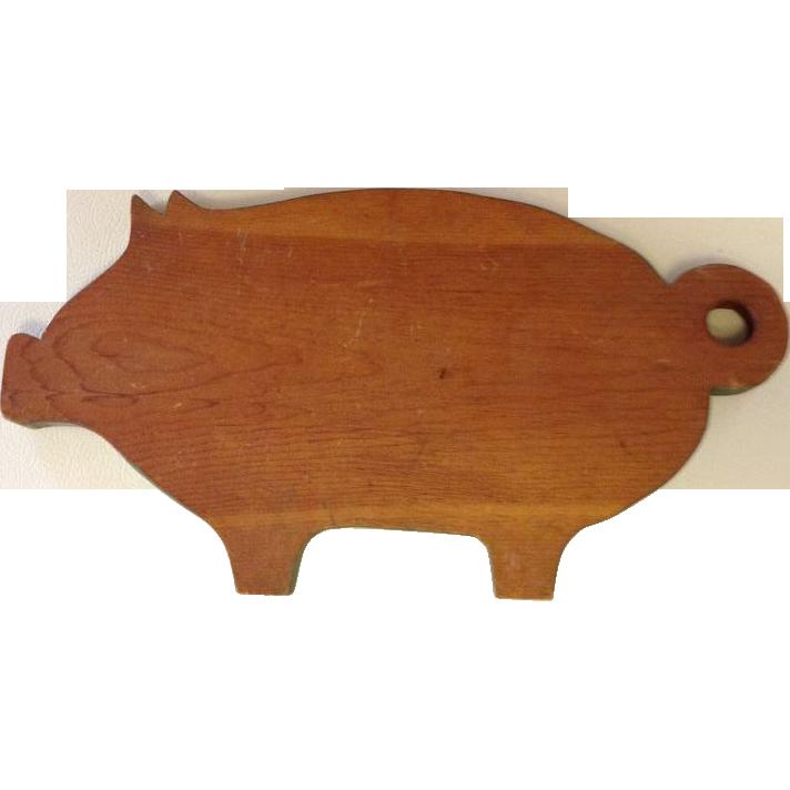 Vintage Green Pig Cutting Board