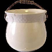 Vintage 1800's White Ironstone Slop Pot
