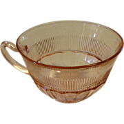 Pink Depression Coronation Pattern Cup