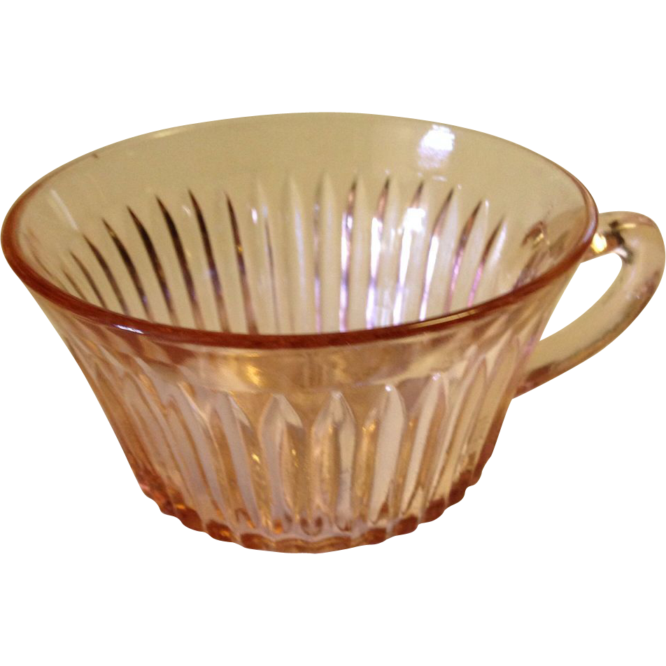 Depression Glass  Anchor Hocking Queen Mary Pink Cup