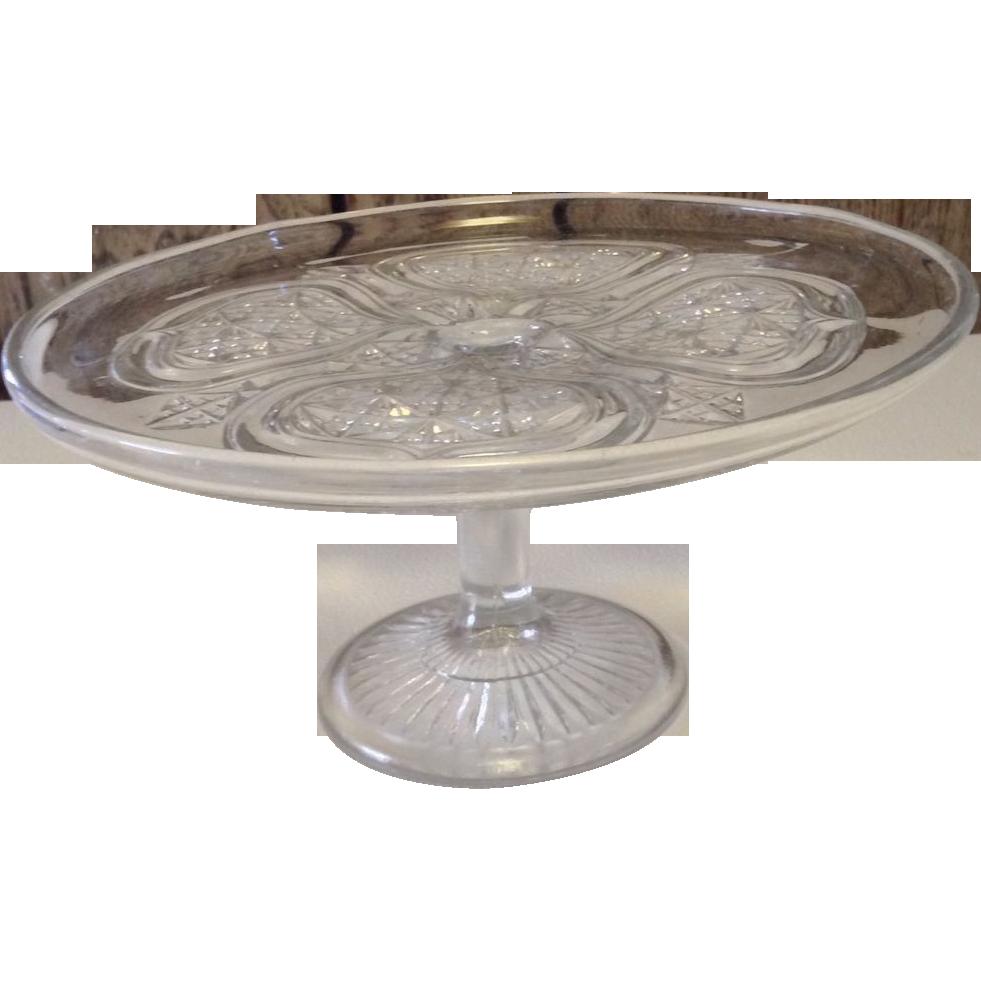 Vintage Glass Pedestal Cake Stand
