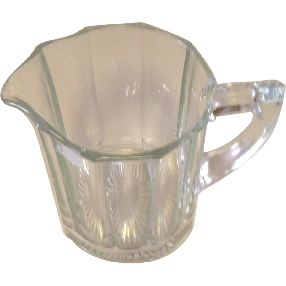 Vintage Clear Crystal Milk Pitcher