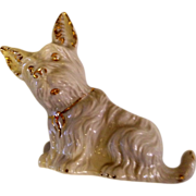 vintage 1960s White Scottie dog planter with gold embellishment