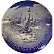 1966 B&G Home for Christmas Commemorative Plate