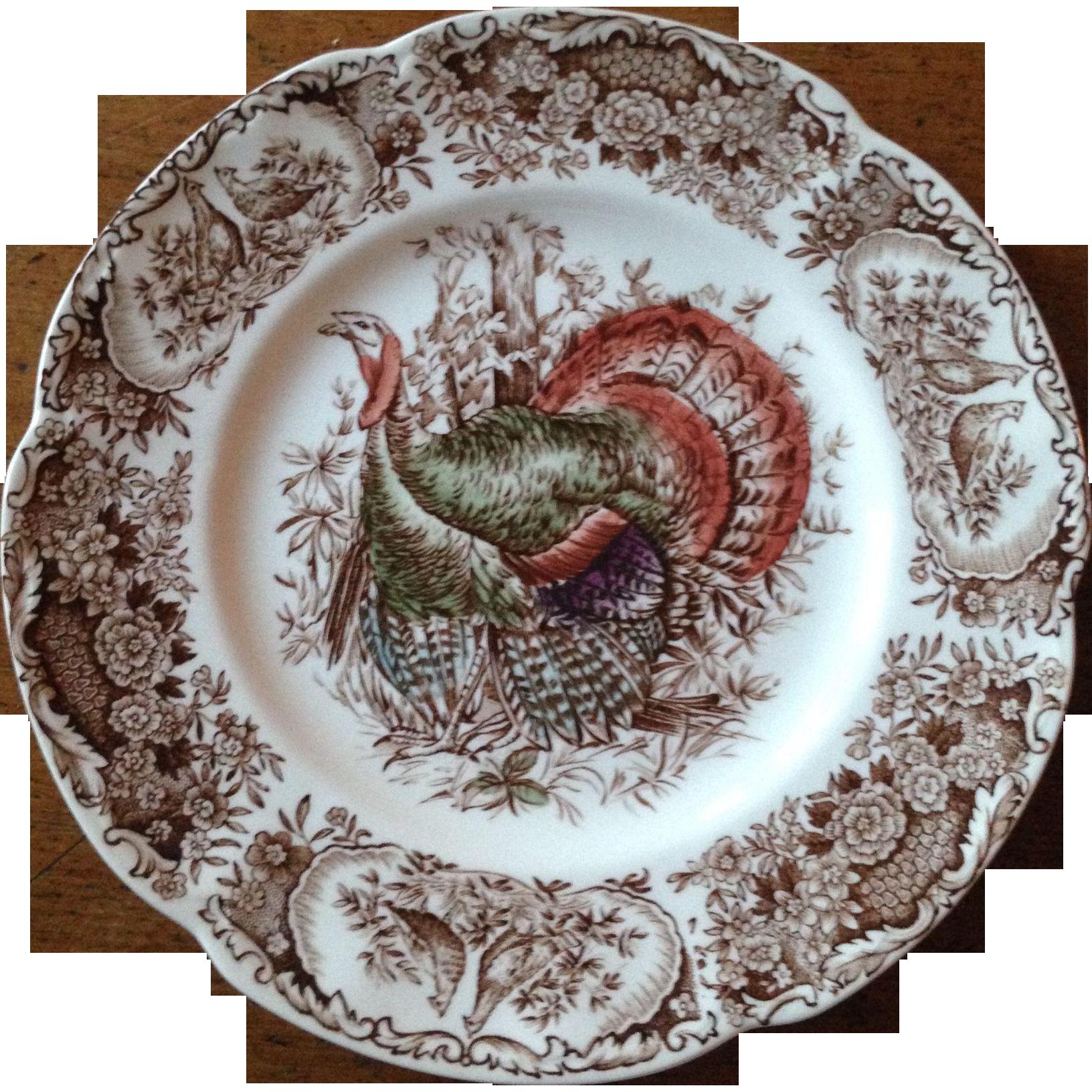Vintage Johnson Brothers Turkey Salad Plate
