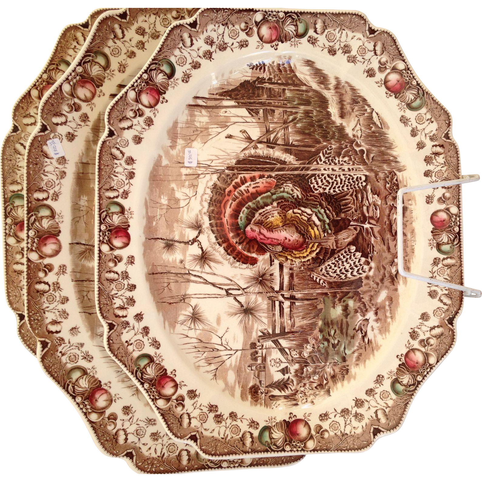 Vintage Johnson Brothers His Majesty 17 inch Turkey Platter