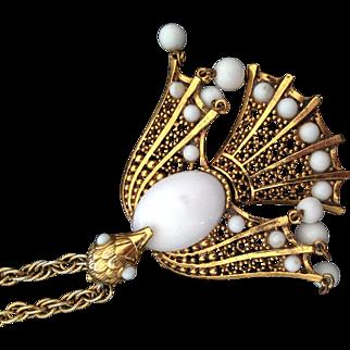 1970s Peacock Pendant