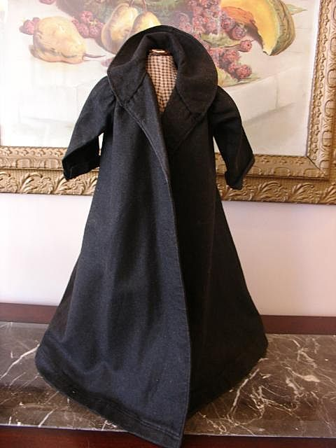 Antique Wool Doll Coat with Capelet