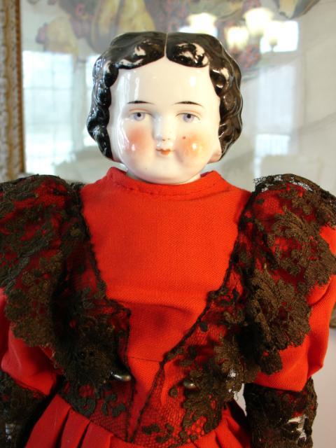 """Sweet 18"""" Bawo Dotter China Head Doll w/Orange Boots"""