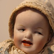 Adorable, Tiny Antique Heubach Character Baby