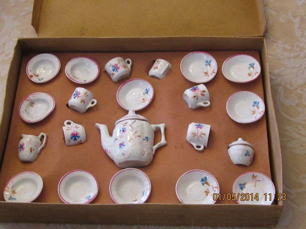 Porcelain Child's Tea Set Made in Germany in Original Box