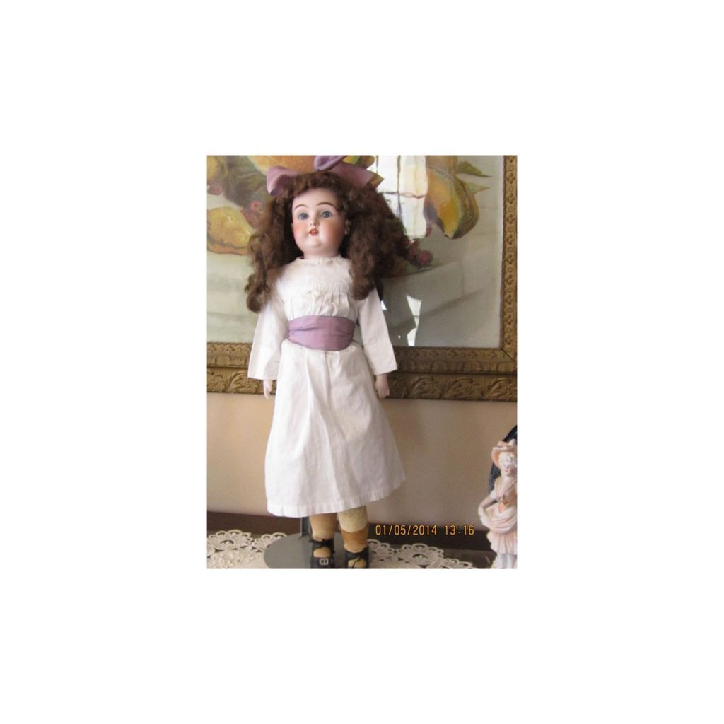 Adorable Early Kestner German Bisque Doll