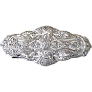 Exquisite Edwardian Platinum and Diamond Brooch/Pin