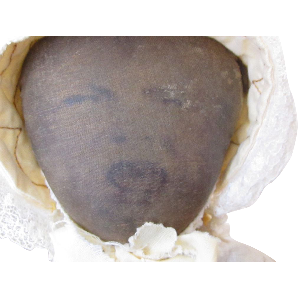 Early Babyland Rag Litho Face Topsy Turvy Doll