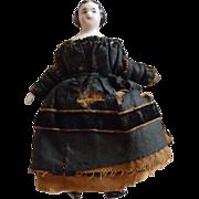Wonderful All Original Dollhouse Miniature China Doll