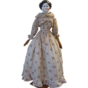 "24"" China Doll~Great Antique Body and Clothing!"