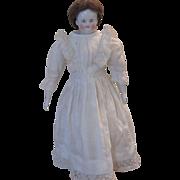 """18"""" Biedermeier China Doll with Original Wig"""