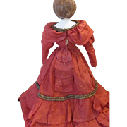 Exquisite Antique French Fashion Bustled Gown