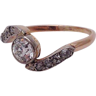 Victorian Bypass Style Diamond Ring