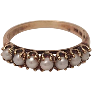 Victorian Cultured Pearl Ring
