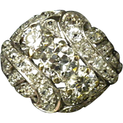 Platinum Diamond Cocktail Ring