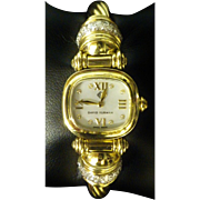 "14k Gold ""David Yurman"" Watch 1.00ctw Diamonds"