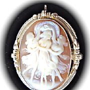 "ESEMCO 14KYG, ""Three Graces"" Cameo"