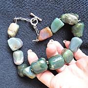 Primitive Jumbo Sized Agate Stone Necklace