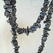 Powerful, Gift of Nature, Hematite Strung Necklace