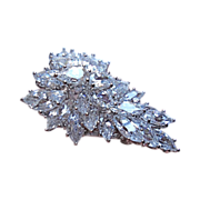 "Reduced! DESIGNER SIGNED: Outstanding in Brilliance, Marquis Shaped, ""Can't Tell Their Not Diamonds"", Brooch/Pin"